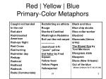red yellow blue primary color metaphors