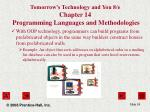 tomorrow s technology and you 8 e chapter 14 programming languages and methodologies24