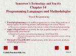 tomorrow s technology and you 8 e chapter 14 programming languages and methodologies25