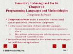 tomorrow s technology and you 8 e chapter 14 programming languages and methodologies27