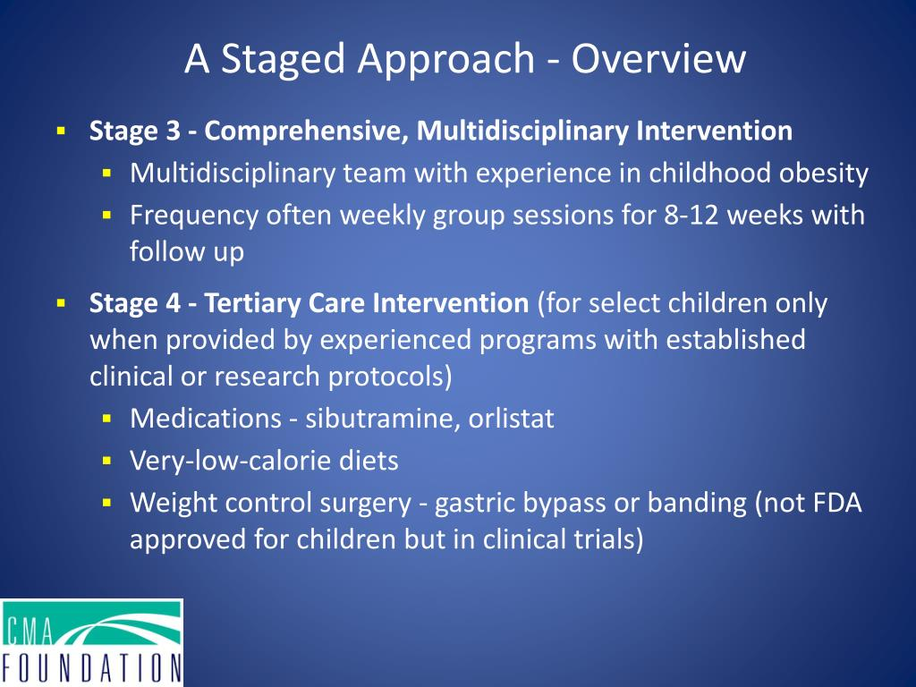 A Staged Approach - Overview