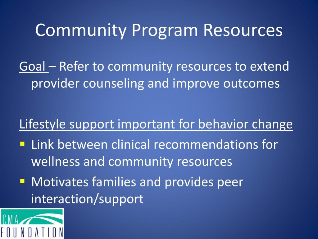 Community Program Resources
