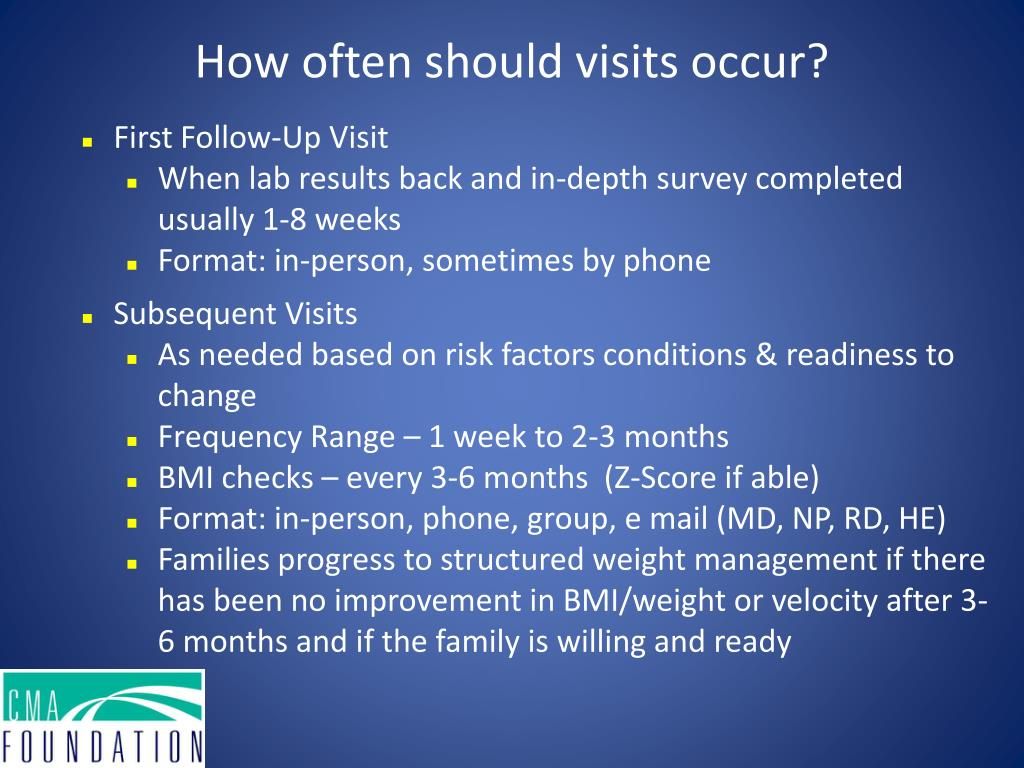 How often should visits occur?