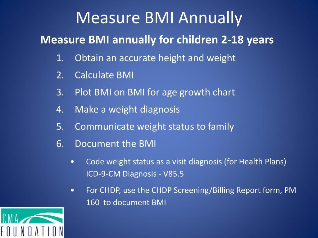 Measure BMI Annually