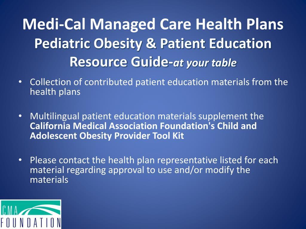 Medi-Cal Managed Care Health Plans