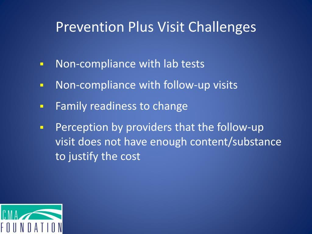 Prevention Plus Visit Challenges