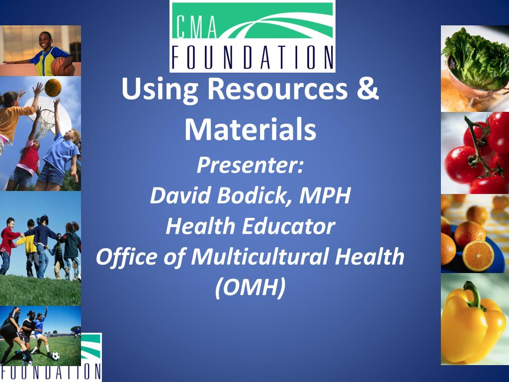 Using Resources & Materials