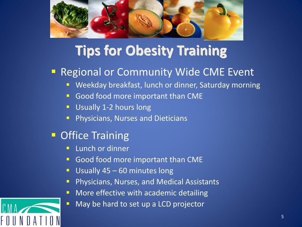 Tips for Obesity Training