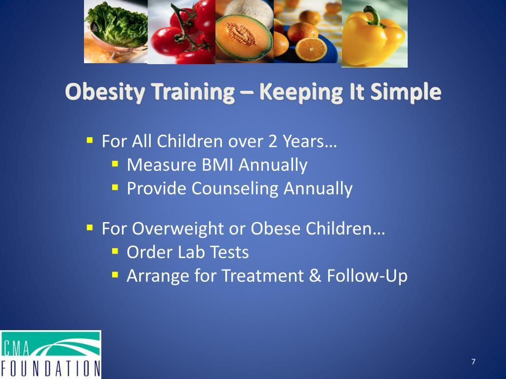 Obesity Training – Keeping It Simple