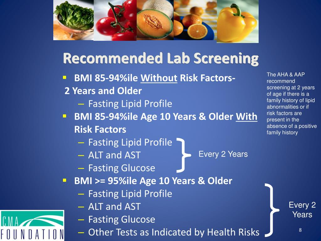 Recommended Lab Screening