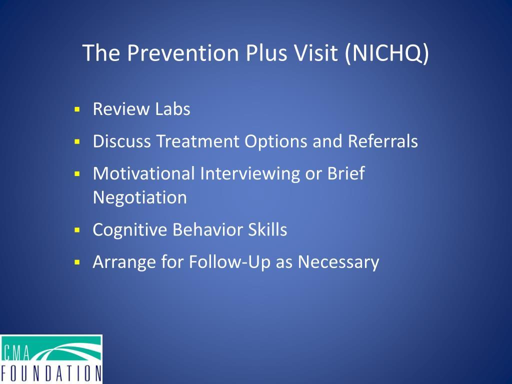 The Prevention Plus Visit (NICHQ)