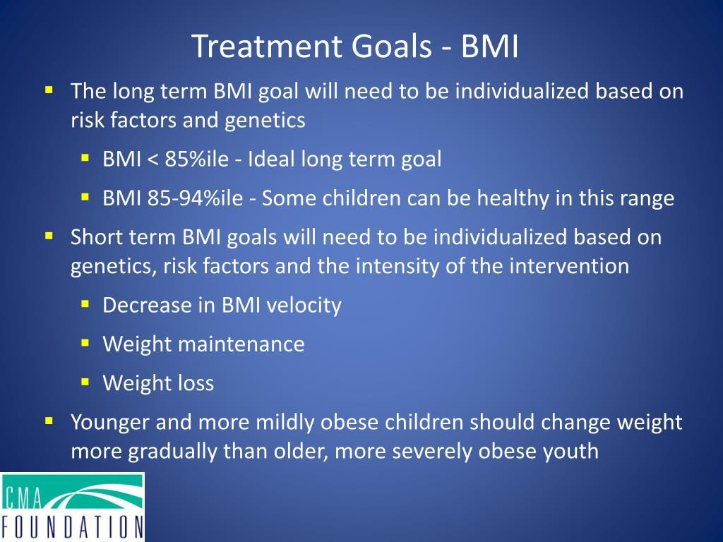 Treatment Goals - BMI