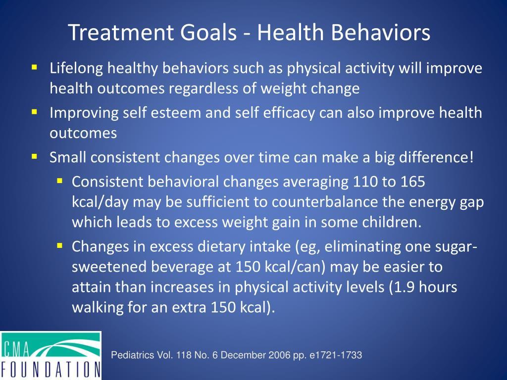 Treatment Goals - Health Behaviors