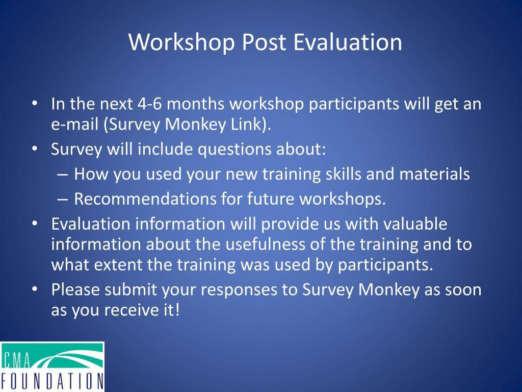 Workshop Post Evaluation