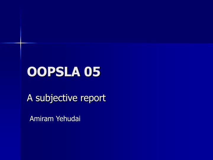 oopsla 05 n.