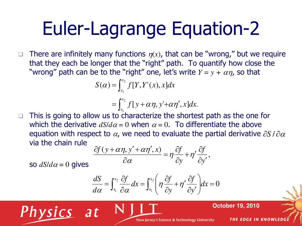 Euler-Lagrange Equation-2
