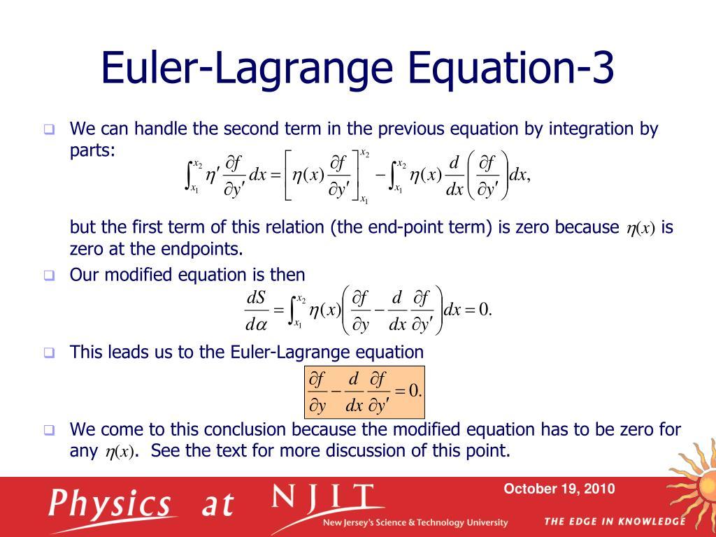 Euler-Lagrange Equation-3