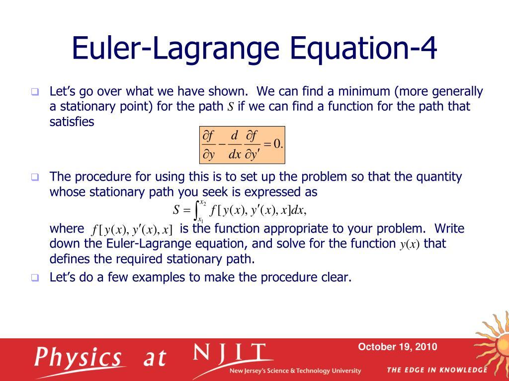 Euler-Lagrange Equation-4