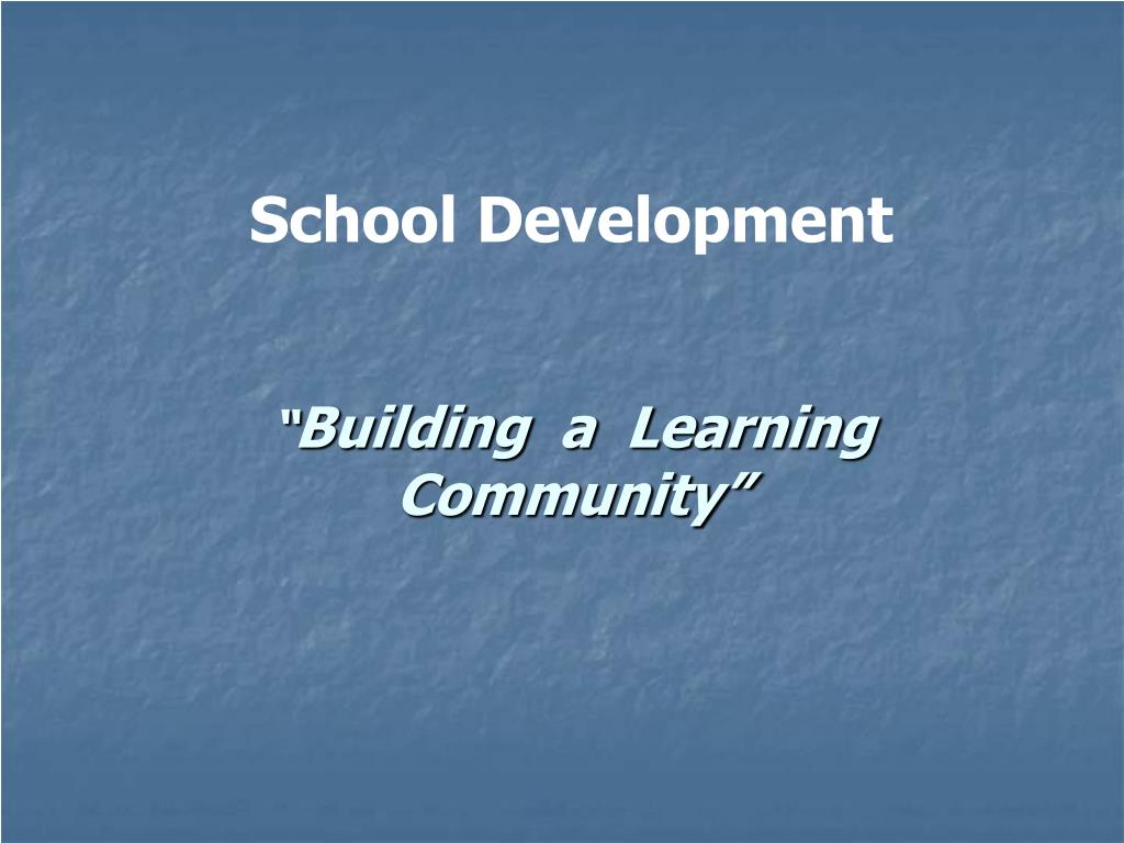 building a learning community l.