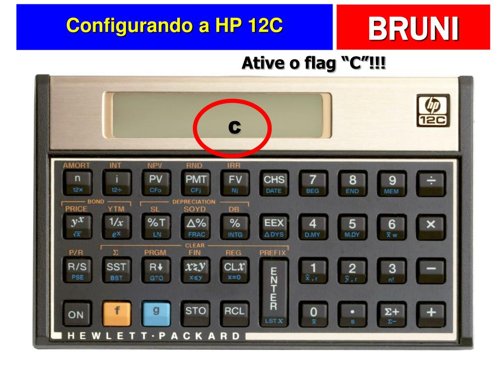 Configurando a HP 12C