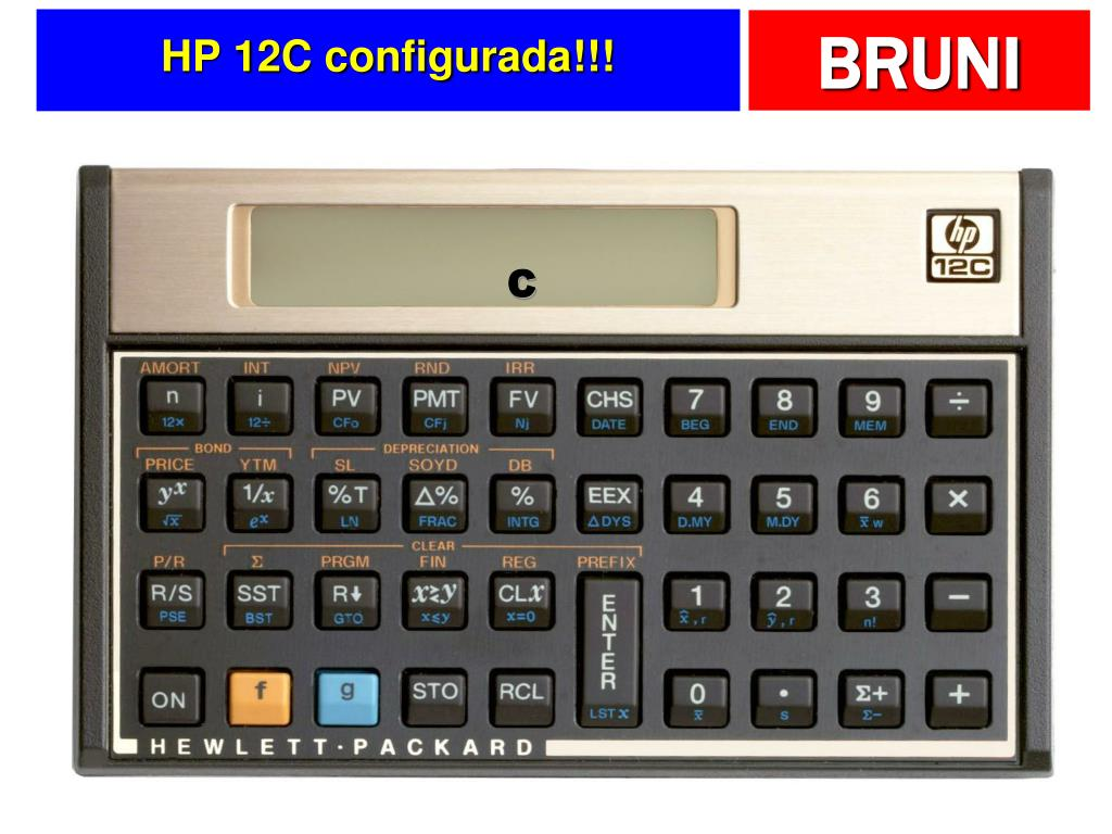 HP 12C configurada!!!