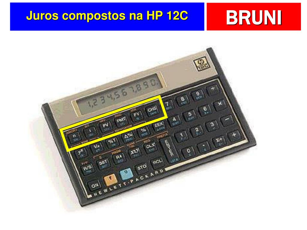Juros compostos na HP 12C