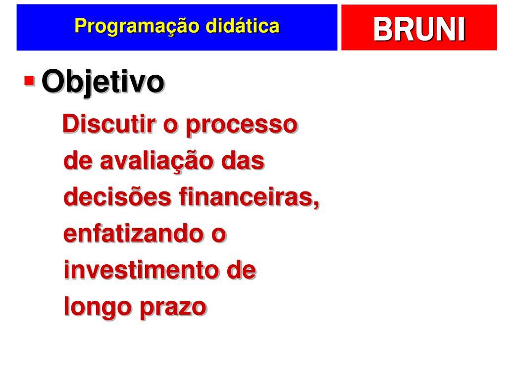 Programação didática