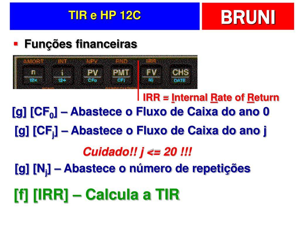 TIR e HP 12C