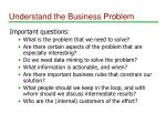 understand the business problem