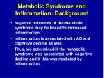 metabolic syndrome and inflammation background