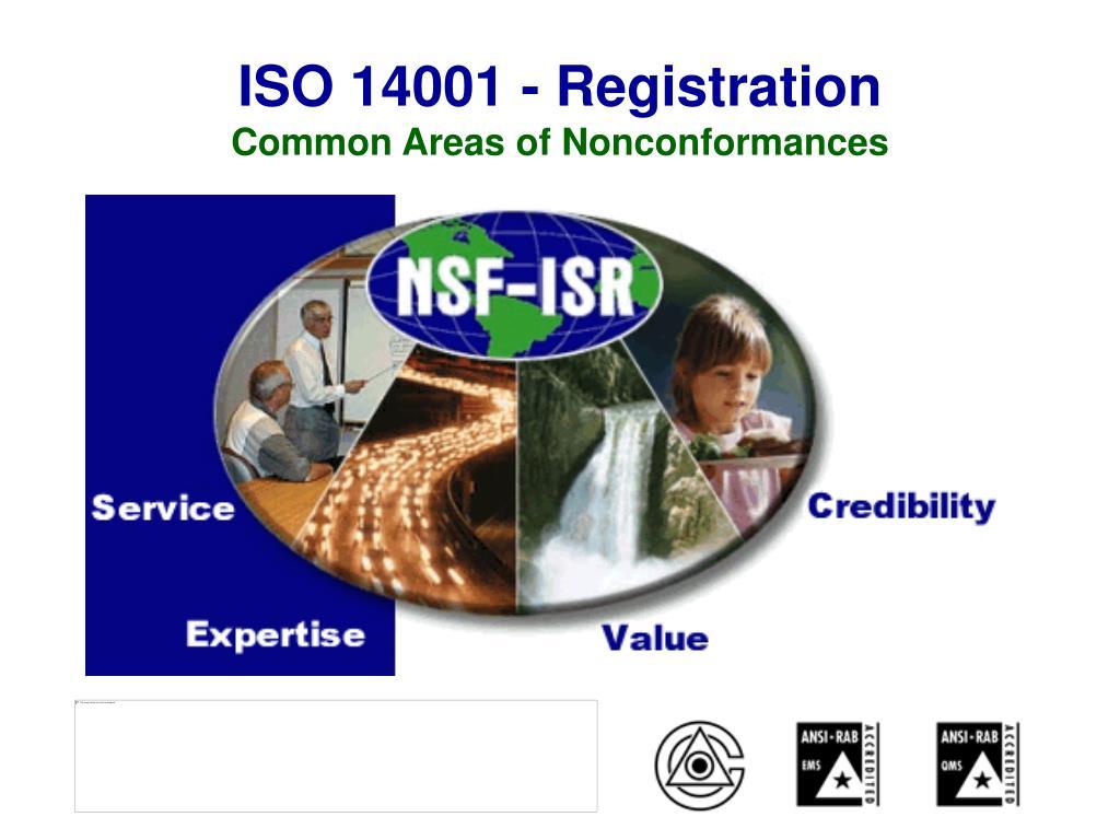 iso 14001 registration common areas of nonconformances l.