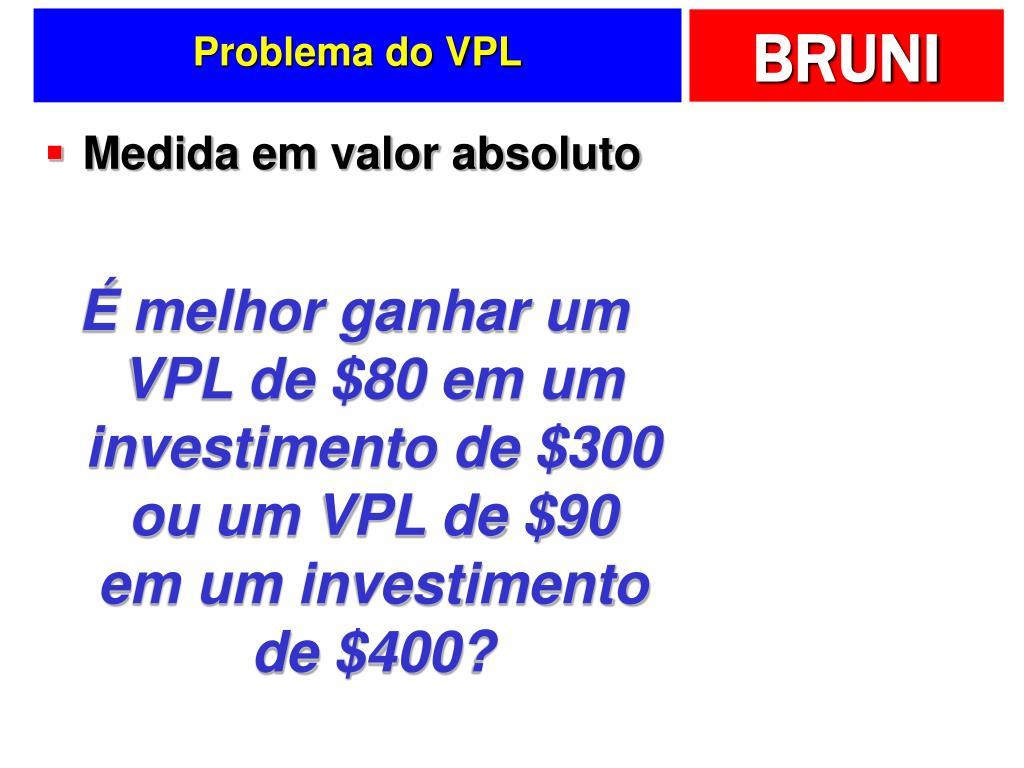 Problema do VPL