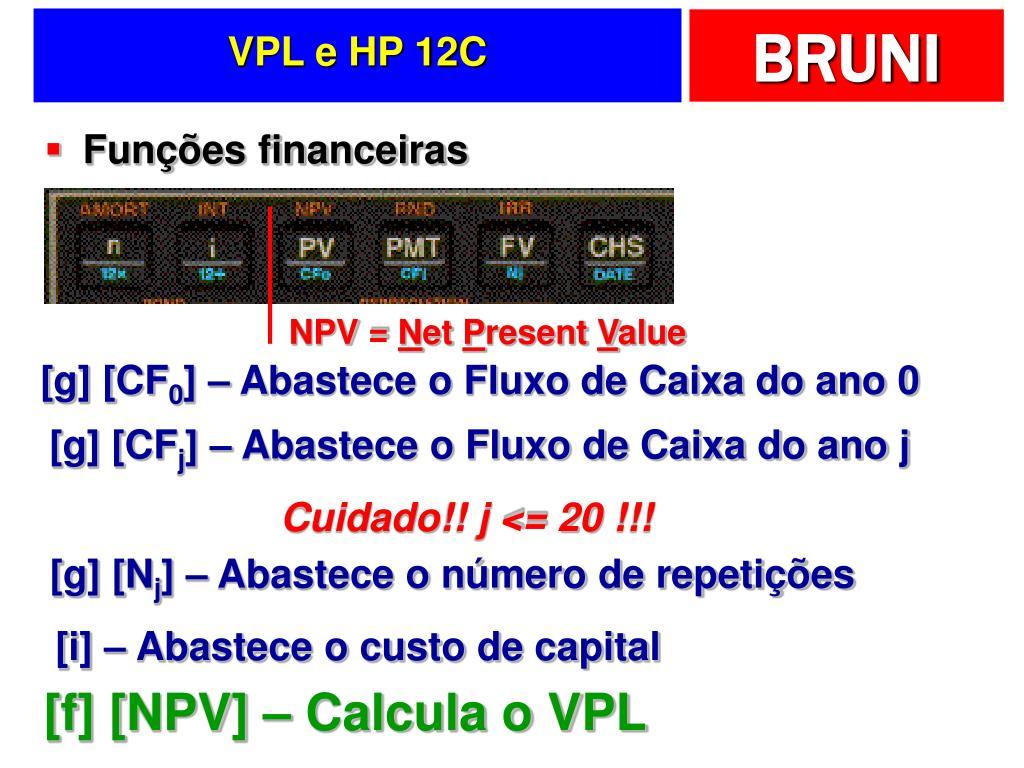 VPL e HP 12C