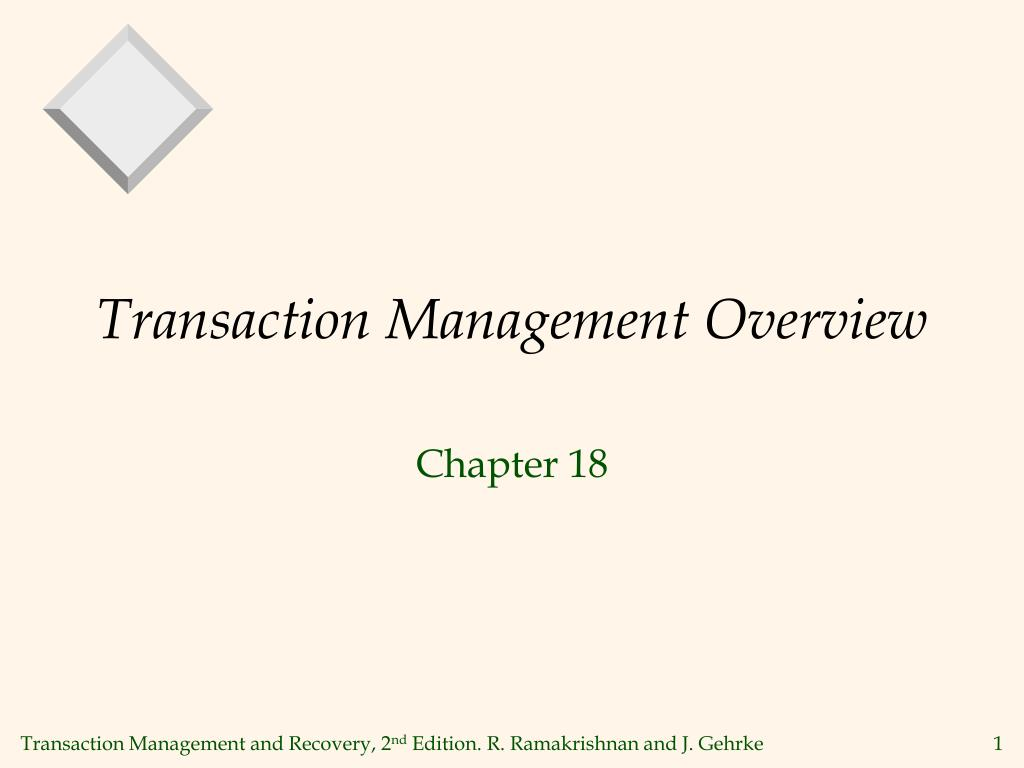 transaction management overview l.