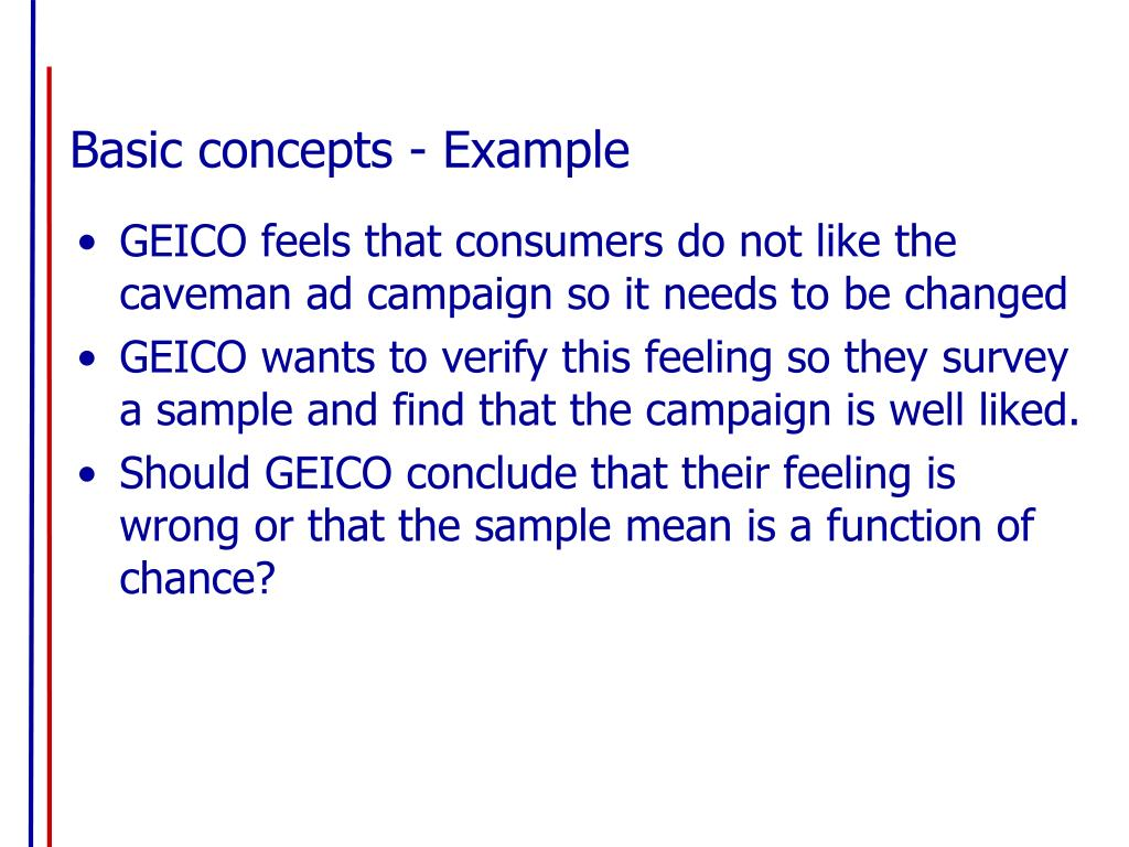 Basic concepts - Example