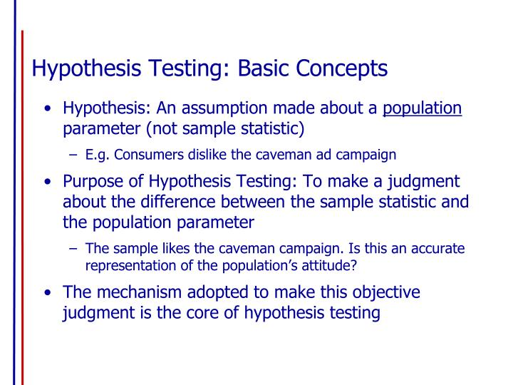 Hypothesis testing basic concepts