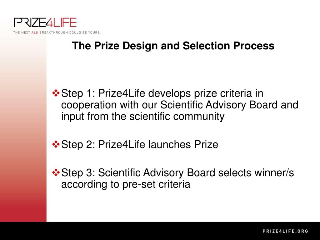 The Prize Design and Selection Process