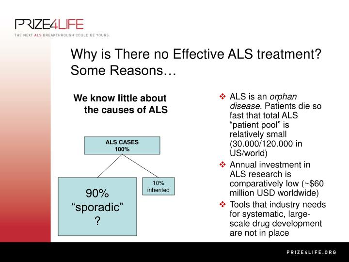 Why is there no effective als treatment some reasons