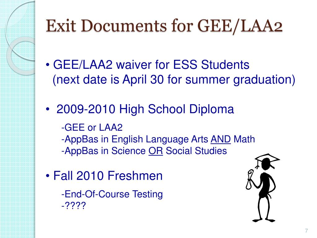 Exit Documents for GEE/LAA2