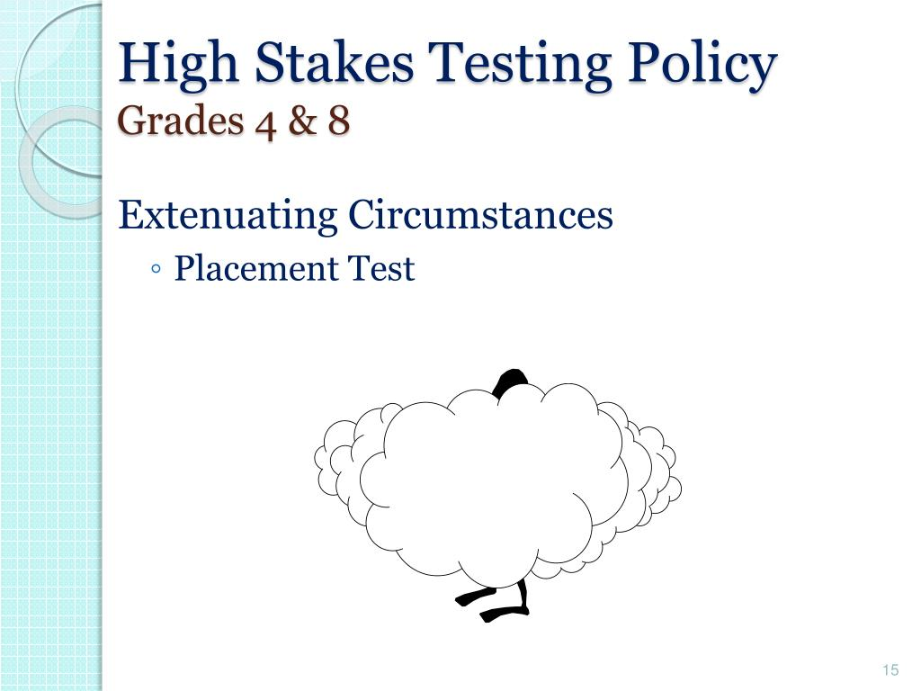 High Stakes Testing Policy