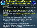 caribbean tsunami warning services now and future