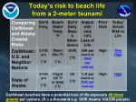today s risk to beach life from a 2 meter tsunami