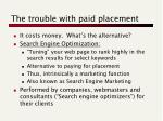 the trouble with paid placement