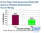 if you think that document drills will improve student achievement you re wrong