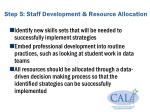 step 5 staff development resource allocation