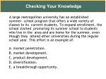 checking your knowledge25