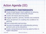 action agenda iii