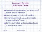 community schools build social capital