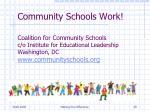 community schools work
