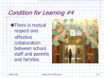 condition for learning 4